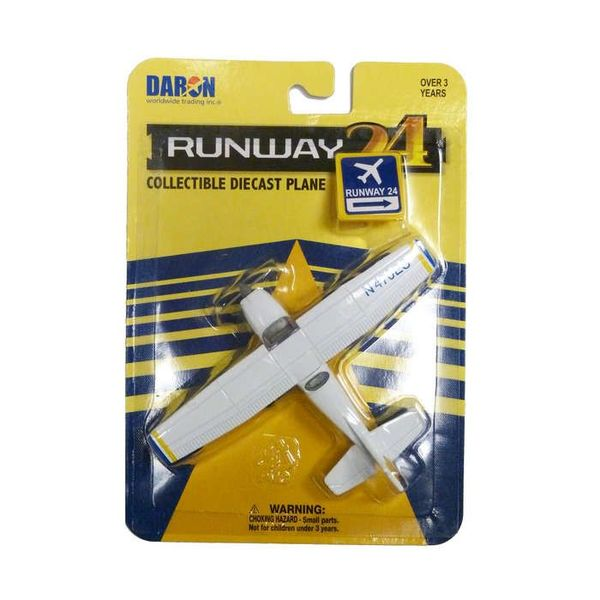 Runway 24 Cessna 172 Blue/white (No Runway Section)