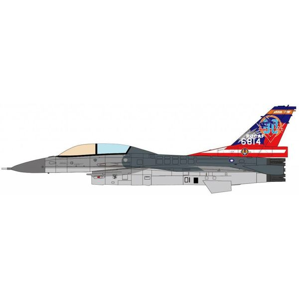 JC Wings F16B Fighting Falcon 455TFW RoCAF Chiayi AB Sino-Japanese War 80th Anniv. 1:72 (no stand)