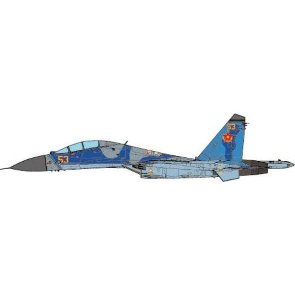 JC Wings SU27UB Flanker C 604th Air Base Kazakhstan Air Force, 2010 1:72 (no stand)