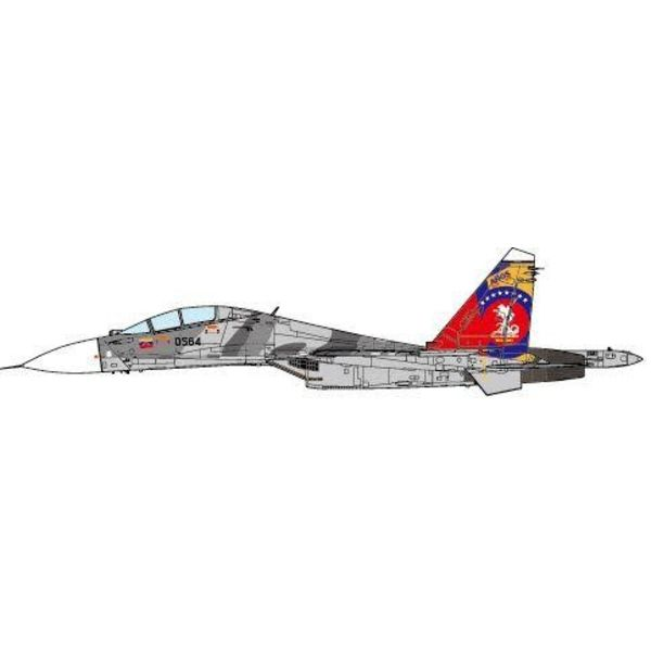 JC Wings SU30MK2 Flanker G Venezuelan Air Force 0564 Grey camo 200 Years of Independence, 2011 1:72 (no stand)