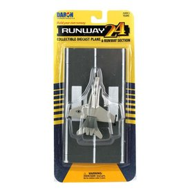 Runway 24 F18 Hornet US Navy grey with runway section