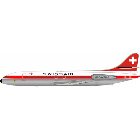 SE210 Caravelle III Swissair HB-ICS ARD200 1:200 with Stand