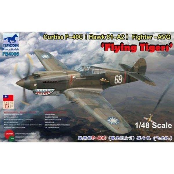 Bronco Model Kits BRONCO P40C AVG FLYING TIGER 1:48