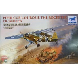 Bronco Model Kits Piper Cub L4H/059 'ROSIE THE ROCKETER' 1:35