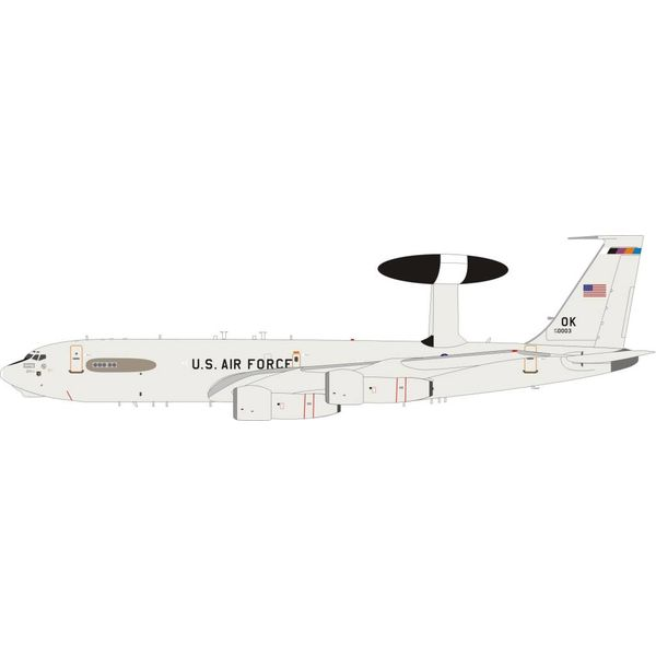 InFlight E3B Sentry (B707-300) USAF 79-0003 OK 1:200 With Stand