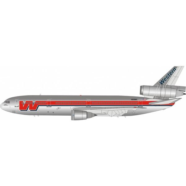 InFlight DC10-10 Western Airlines Maui-No Ka Oi N908WA 1:200 Polished with stand*NEW MOLD*