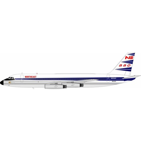 CV880 Northeast Airlines Blue Livery N8493H 1:200 with stand