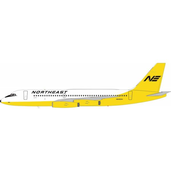 InFlight CV880 Northeast Airlines Yellow Livery N8493H 1:200 with stand