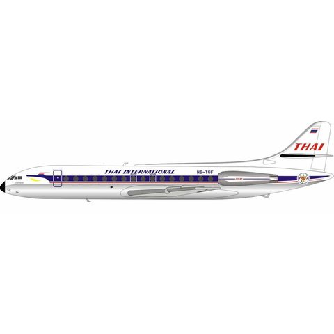 SE210 Caravelle III Thai Airways International HS-TGF 1:200 Polished with Stand