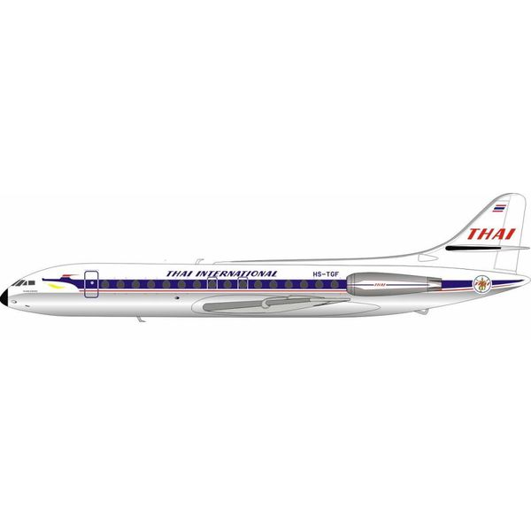 InFlight SE210 Caravelle III Thai Airways International HS-TGF 1:200 Polished with Stand