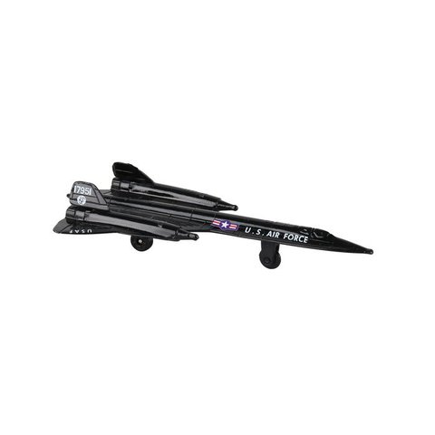 SR71 US Air Force Blackbird (no drone) with runway section