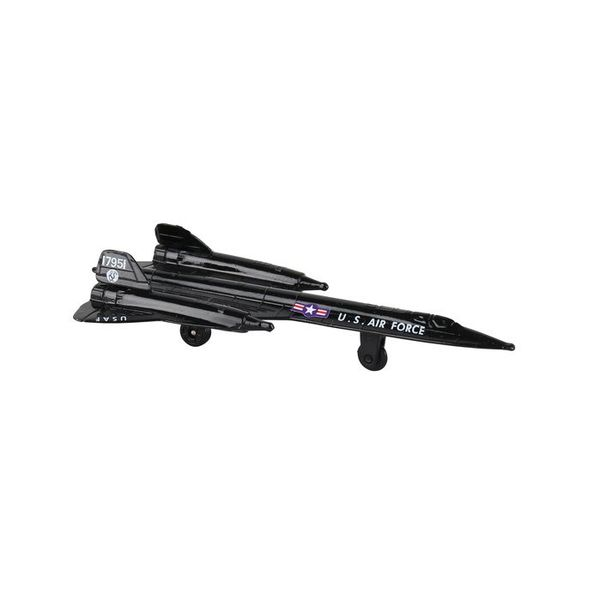 Runway 24 SR71 US Air Force Blackbird (no drone) with runway section