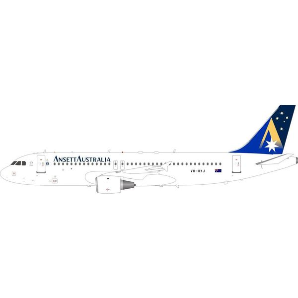 InFlight A320 Ansett Australia VH-HYJ 1:200 with stand