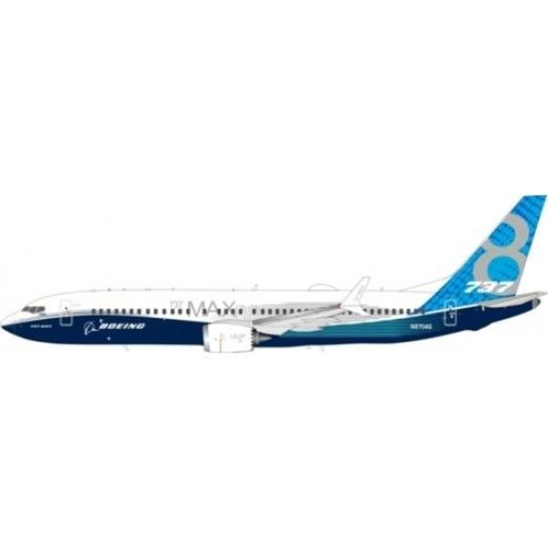 InFlight B737 MAX8 Boeing House Livery N8704Q 1:200 With Stand