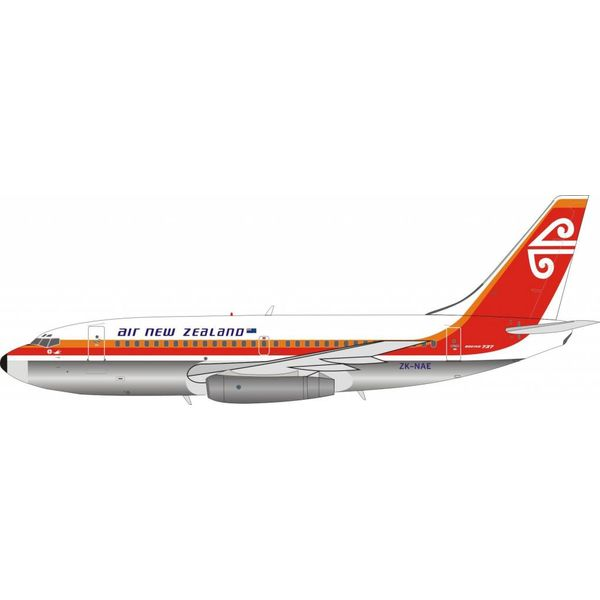 InFlight B737-200 Air New Zealand ZK-NAD (NAC livery) 1:200 Polished with stand (limited 60 pieces)