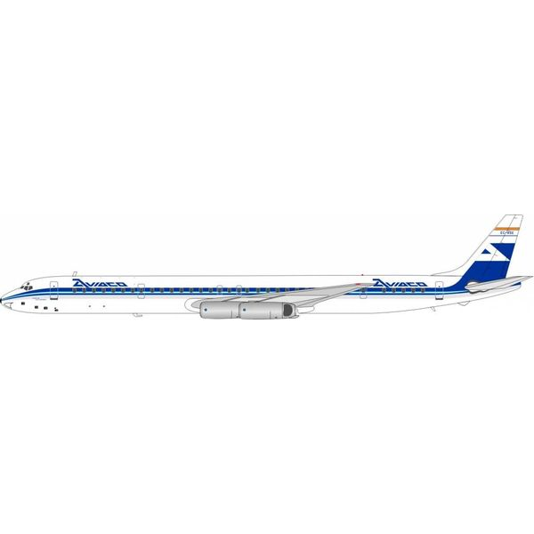 InFlight DC8-63 Aviaco EC-BSE 1:200 with stand