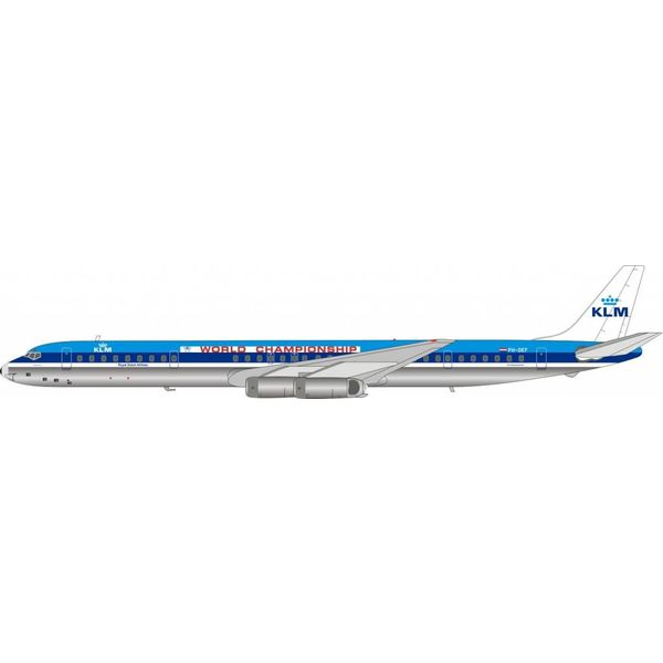 InFlight DC8-63 KLM World Championship PH-DEF Henry Hudson 1:200 polished with stand