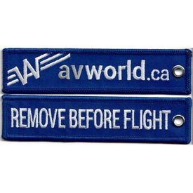 avworld.ca Key Chain Remove Before Flight Avworld Blue