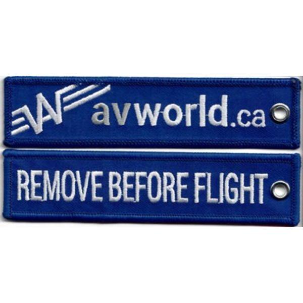 avworld.ca Key Chain Remove Before Flight Avworld Blue
