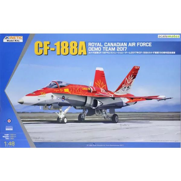 KINETIC CF-188A RCAF DEMO TEAM 2017 1:48 RED