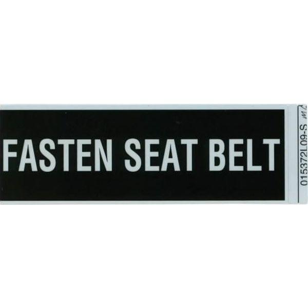 Aircraft Placard Fasten Seat Belts