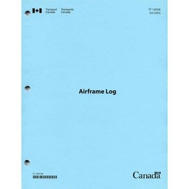 Transport Canada Aircraft Technical Log: Airframe Log softcover*NEW*