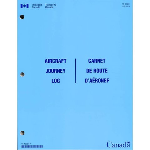 Aircraft Journey Log Transport Canada softcover