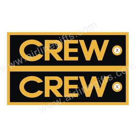KEY CHAIN CREW BLACK GOLD TRIM