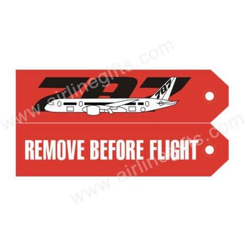 KEY CHAIN RBF 787 REMOVE BEFORE FLIGHT