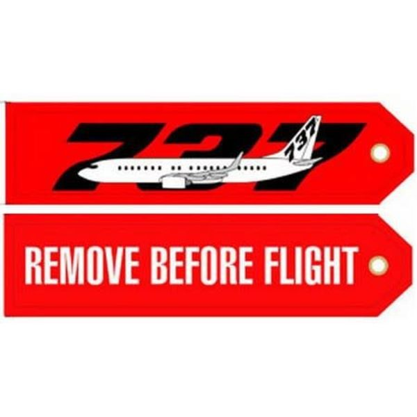 Key Chain RBF 737 Remove Before Flight