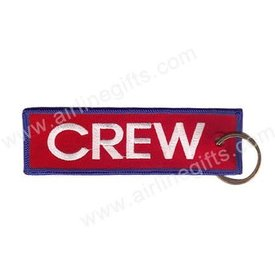 KEY CHAIN CREW RED BLUE TRIM