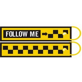 KEY CHAIN FOLLOW ME YELLOW/BLACK