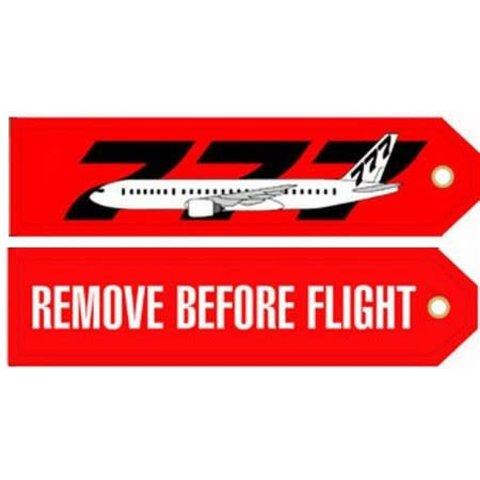 KEY CHAIN RBF 777 REMOVE BEFORE FLIGHT