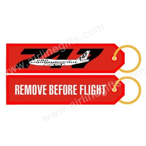 KEY CHAIN RBF 747 REMOVE BEFORE FLIGHT