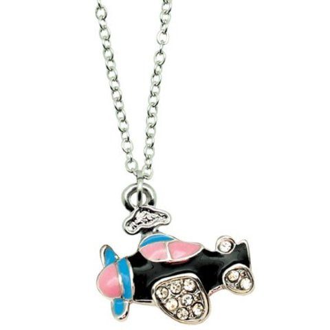 "18"" Enameled Airplane Necklace"
