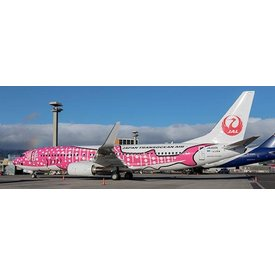 JC Wings B737-800W JTA Japan Transocean Sakura Jinbei Jet JA06RK 1:200 with stand