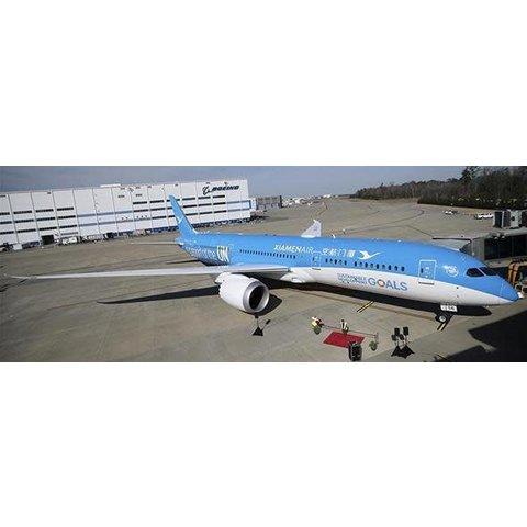 B787-9 Dreamliner Xiamen Airlines UN Goal Livery B-1356 1:400 flaps down w/Antenna