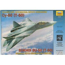 Zvesda Sukhoi Su50 T50 Pak Fa 1:72 kit
