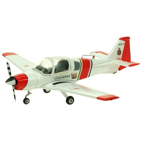 Bulldog Hong Kong Auxiliary Air Force White / Orange HKG-6 1:72 with stand