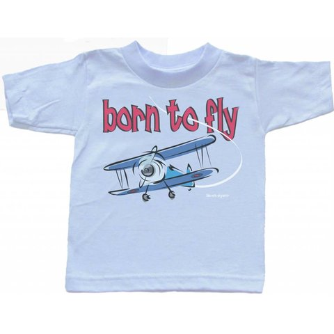 BORN TO FLY T-SHIRT BLUE TODDLR 2T