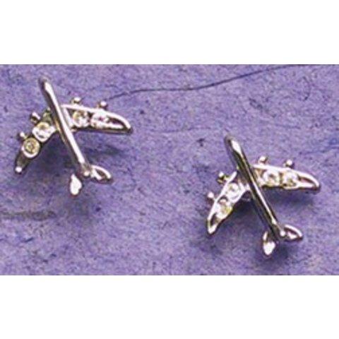Silver Jet Earrings