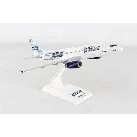 A320 Jetblue Bluemanity 1:150 with stand (no gear)