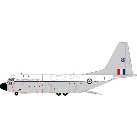 JFox2 C130E Hercules RAAF Australian Air Force A97-181 white / Grey 1:200 with stand