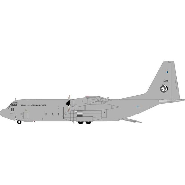 JFOX C130H-30 Hercules Malaysian Air Force M30-04 Grey 1:200 with stand