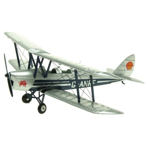 DH82 Tiger Moth Civilian Shell G-ANFR Silver/Blue 1:72