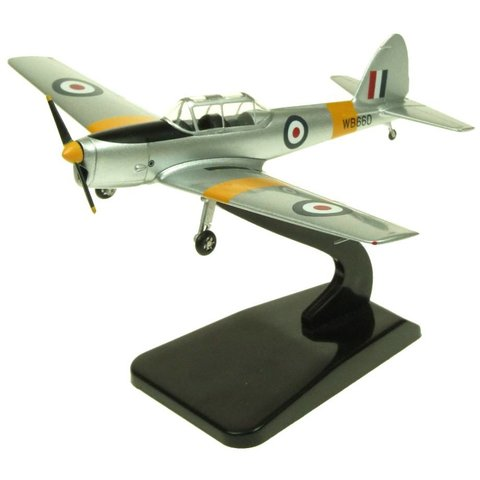 DHC1 Chipmunk T10 British Army WB660 silver / yellow 1:72 with stand