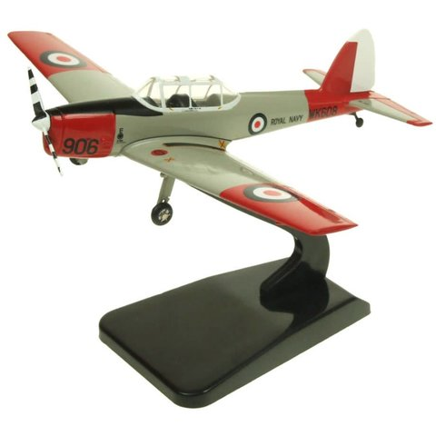 DHC1 Chipmunk T10 Royal Navy Historic Flight 906 WK608 silver/orange 1:72 with stand**o/p**