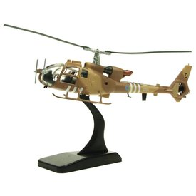 AV72 Gazelle AH1 Britsh Army Air Corps Operation Granby XZ321 D  desert camo 1:72 with stand