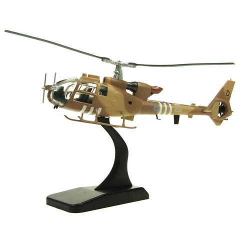 Gazelle AH1 Britsh Army Air Corps Operation Granby XZ321 D  desert camo 1:72 with stand