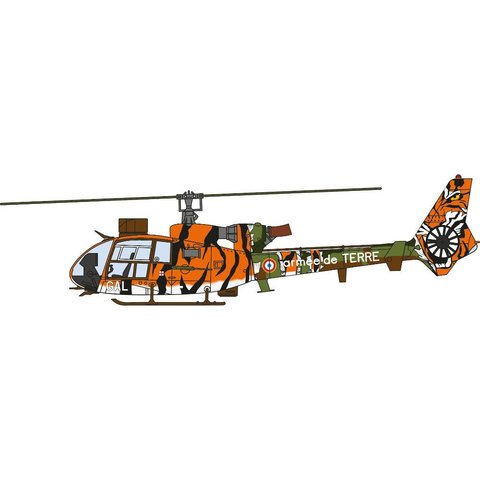 Gazelle Armee de Terre France Tiger Meet L 1:72 with stand